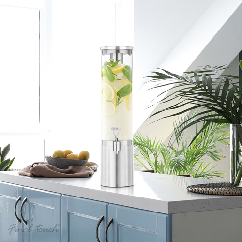 Final Touch 2.5L Stainless Steel & Glass Drinks Dispenser